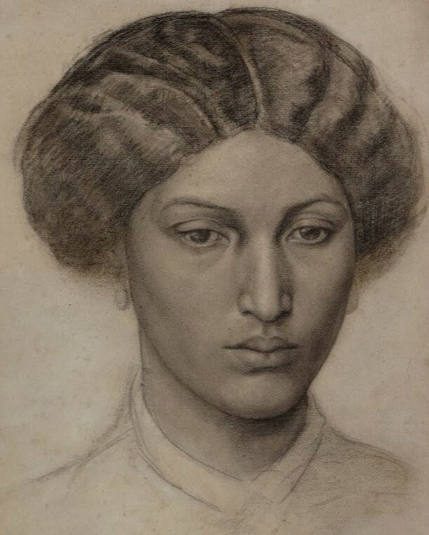 Dante Gabriel Rossetti, Study of a Young Woman
