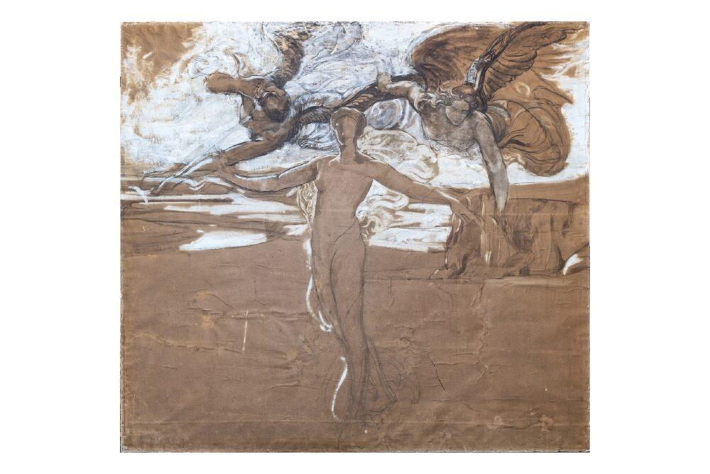De Carolis, Studio per la Primavera_1903_Tecnica mista su carta applicata su tavoletta_cm145x167
