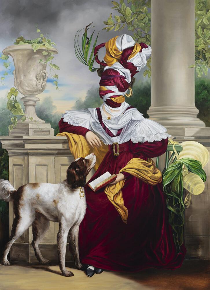 Ewa Juszkiewicz, Untitled (after Jan Adam Kruseman), 2020, oil on canvas © EWA JUSZKIEWICZ/COURTESY GAGOSIAN