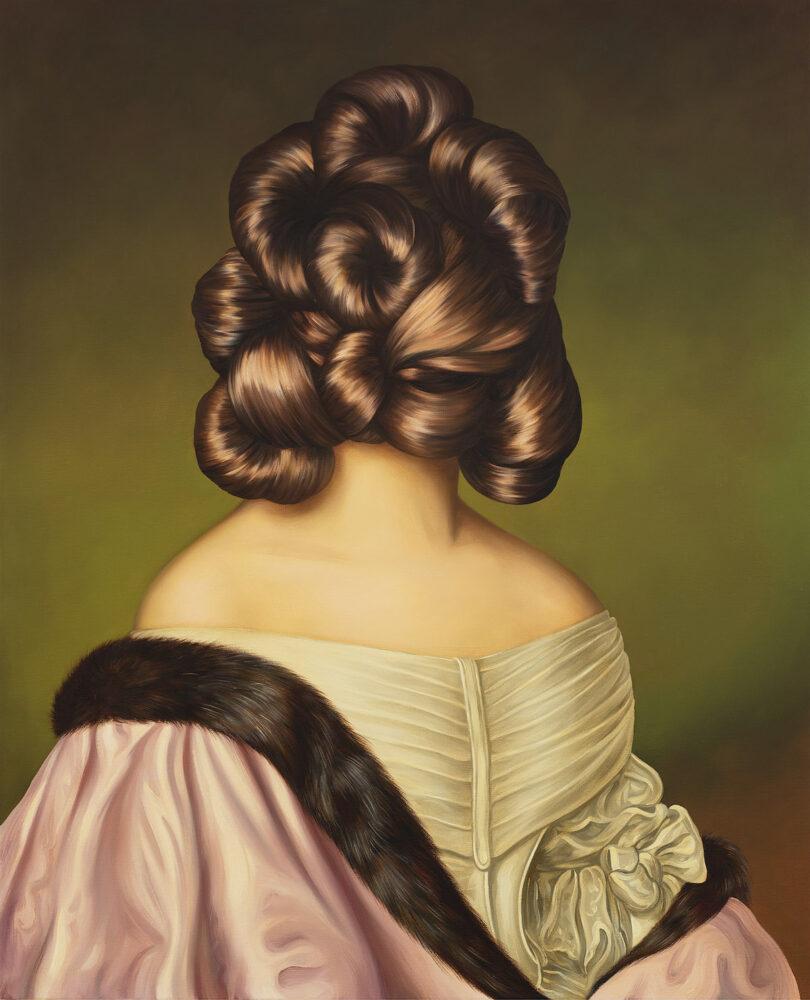 Ewa Juszkiewicz, Untitled (after Joseph Karl Stieler), 2020, oil on canvas  © EWA JUSZKIEWICZ/COURTESY GAGOSIAN