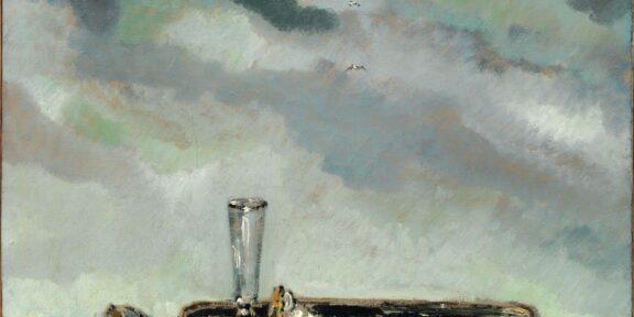 Filippo de Pisis Conchiglie sulla marina 1932 olio su tela Collezione Privata