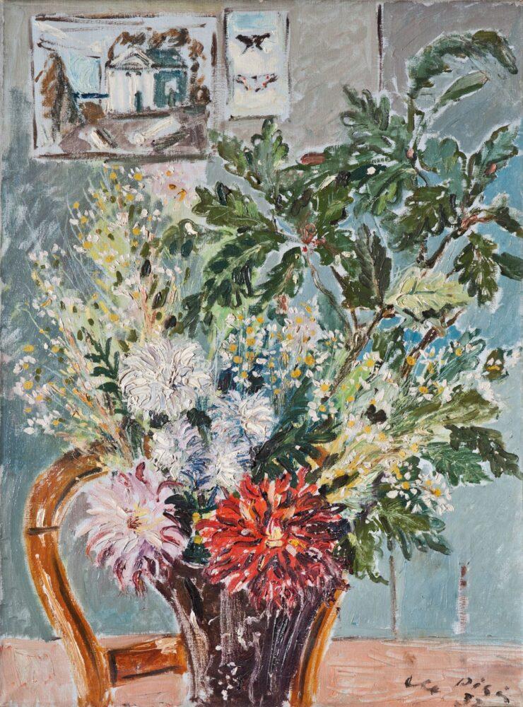 Filippo de Pisis Dalie 1931 olio su tela collezione Privata