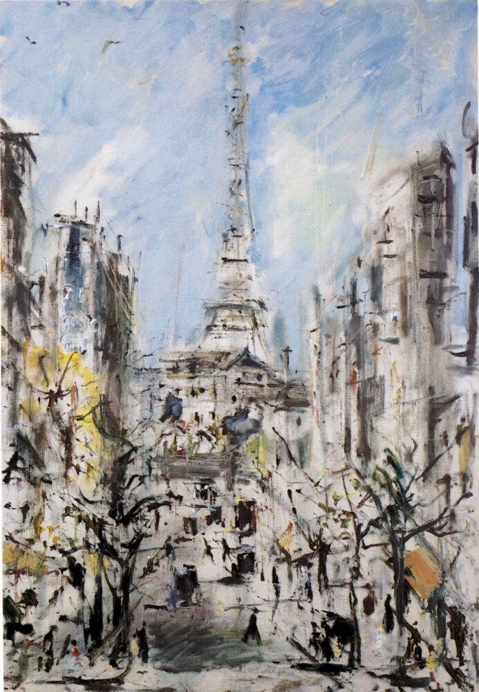 Filippo de Pisis La Torre Eiffel 1939 olio su tela cm Collezione Privata