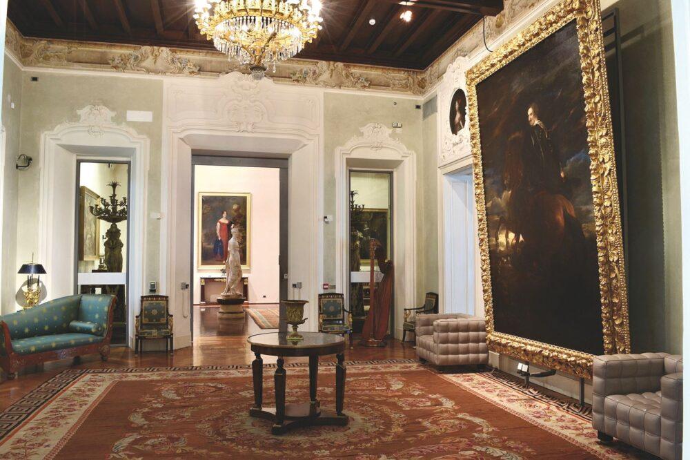 Fondazione Magnani Rocca. La Sala Van Dyck col tappeto fine Settecento Archivio Fotografico Fondazione MagnaniRocca