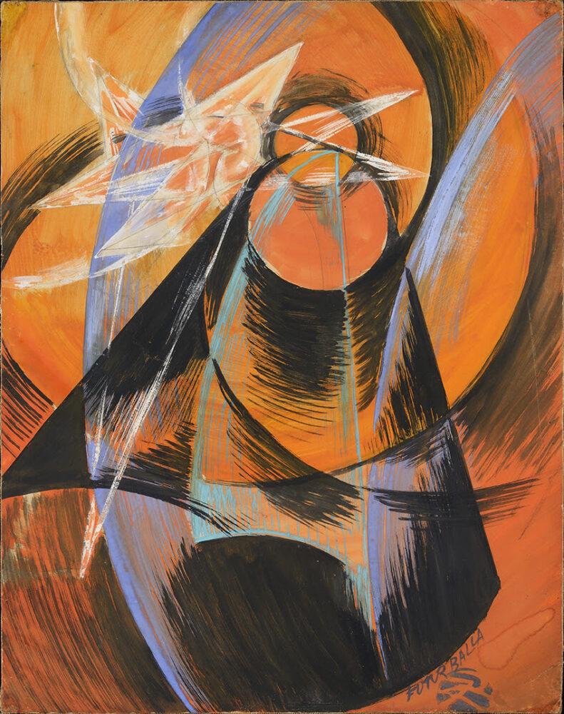 Giacomo Balla, Mercurio che passa davanti al Sole, 1914