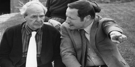 Giovanni Carandente con Henry Moore