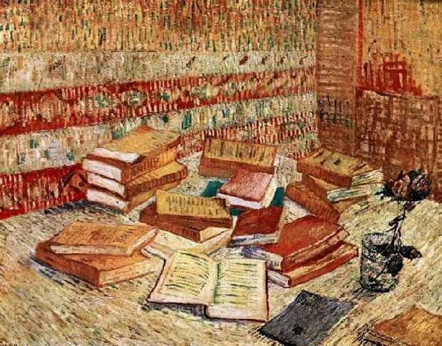 Vincent Van Gogh, Natura morta con libri e una rosa (1889)