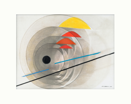 Luigi Veronesi, Composizione, 1938 Oil and photogram on canvas 11 4/5 × 15 7/10 in 30 × 40 cm