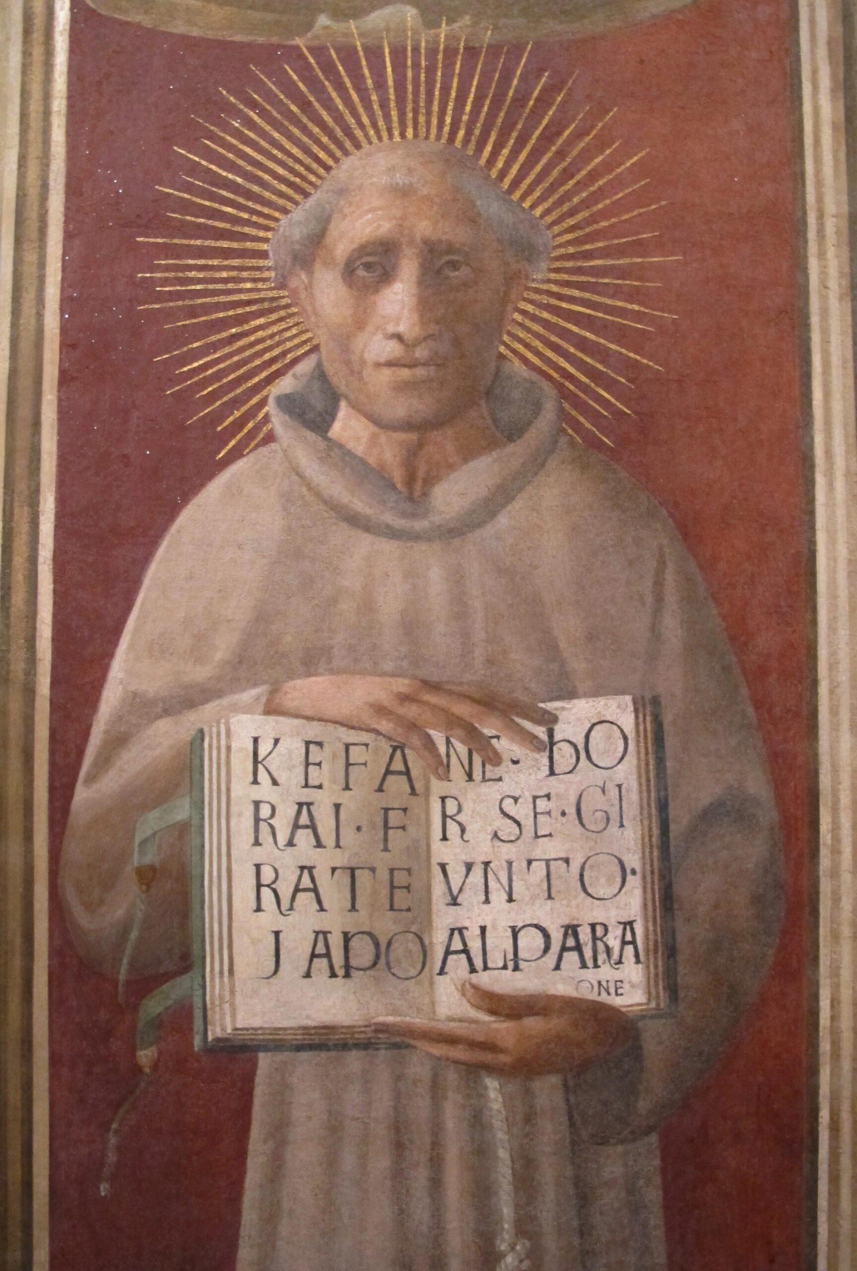 Jacopone da Todi nell'affresco di Paolo Uccello, nel duomo di Prato