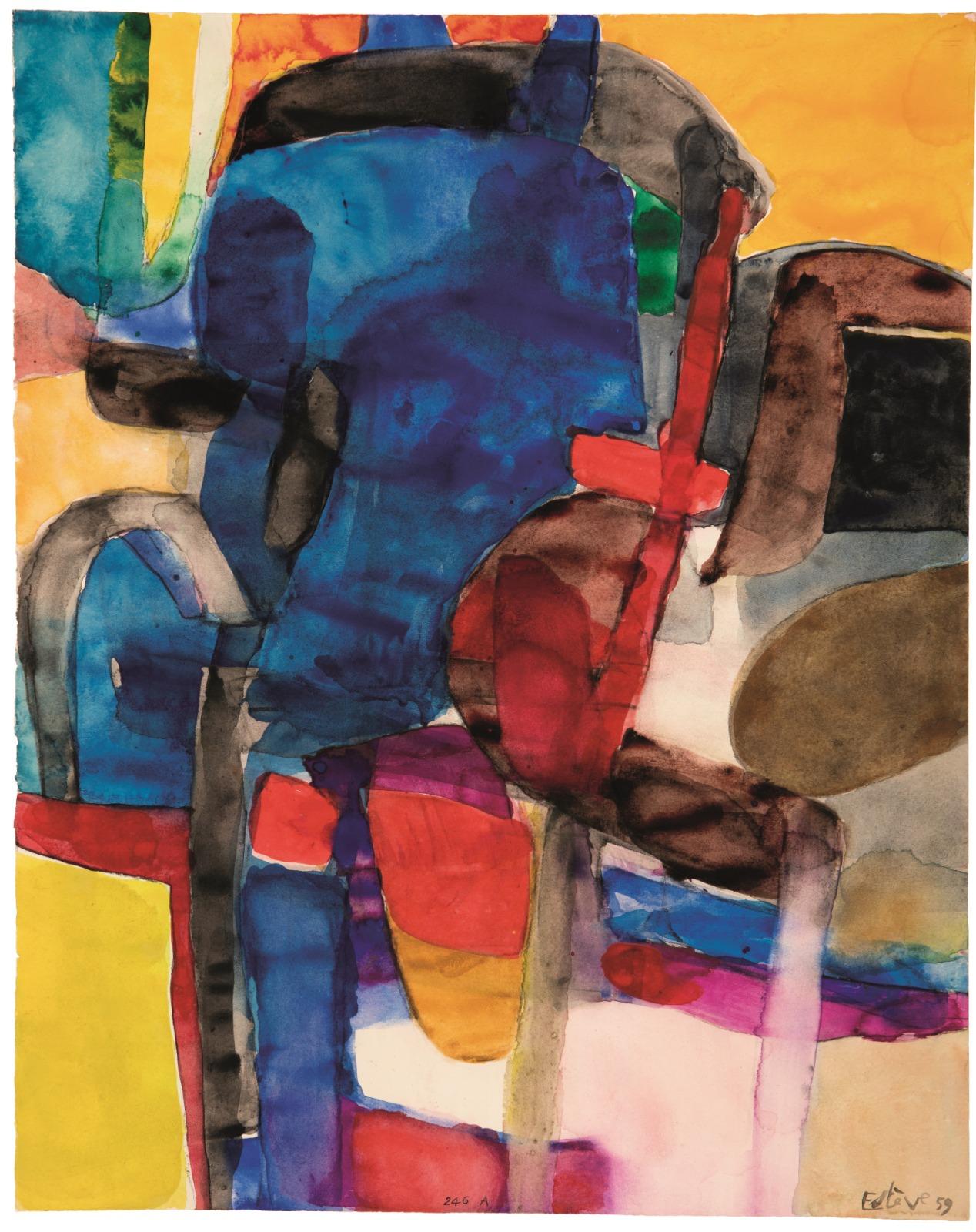 Maurice Estève, Abstract Composition, 1959, galleria W&K (Austria, USA)