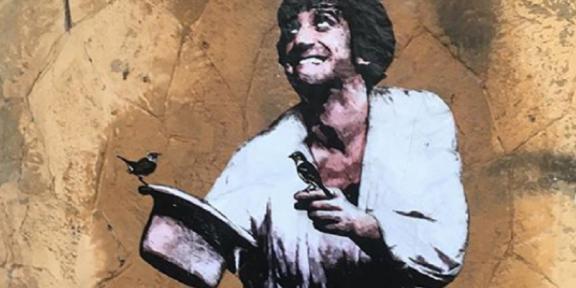 Murale dedicato a Gigi Proietti di Harry Greb