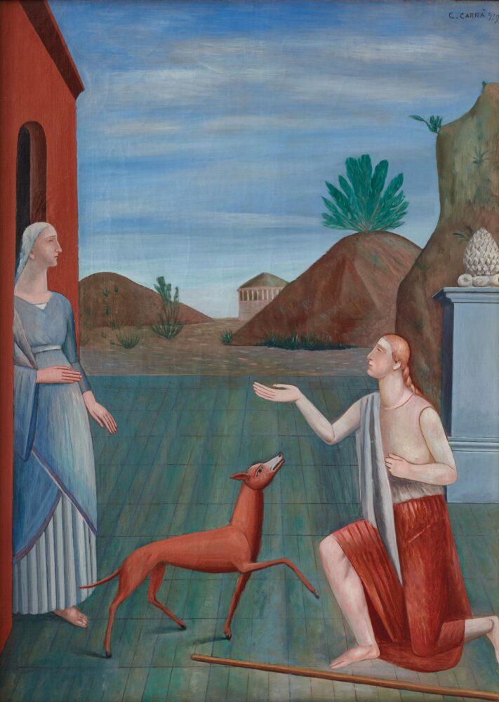 Carlo Carrà, Le figlie di Loth, 1919, olio su tela, 111 x 80 cm Mart, Collezione VAF-Stiftung