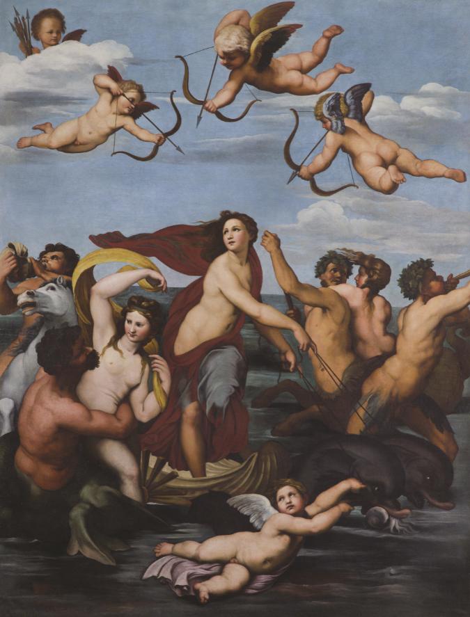 Pietro da Cortona, Trionfo di Galatea, 1624 ca., olio su tela. Roma Accademia Nazionale di San Luca