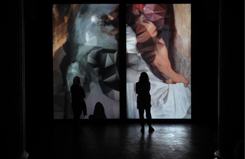 Quayola - Strata #4 Diptych, 2011 - Video-installazione a due canali, 09' - Installation view Troyka Multispace - Mosca, Russia, 2011