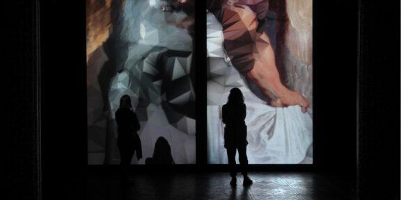 Quayola - Strata #4 Diptych, 2011 - Video-installazione a due canali, 09' - Installation view Troyka Multispace - Mosca, Russia, 2011