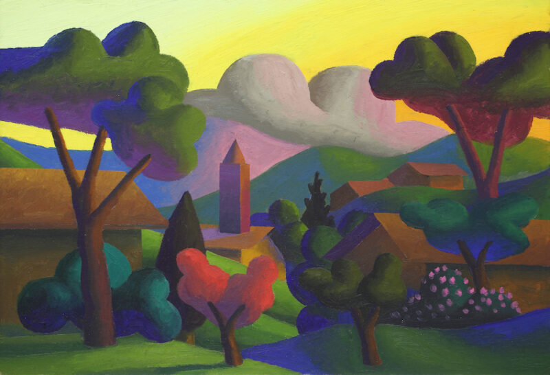 Salvo, Una Sera, 2009, olio su cartone, 35x50 cm