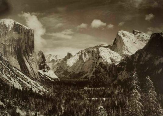 Anselm Adams David Arrington Sothebys Yosemite Valley From Inspiration Point, Winter, Yosemite National Park, $70,000 - 100,000