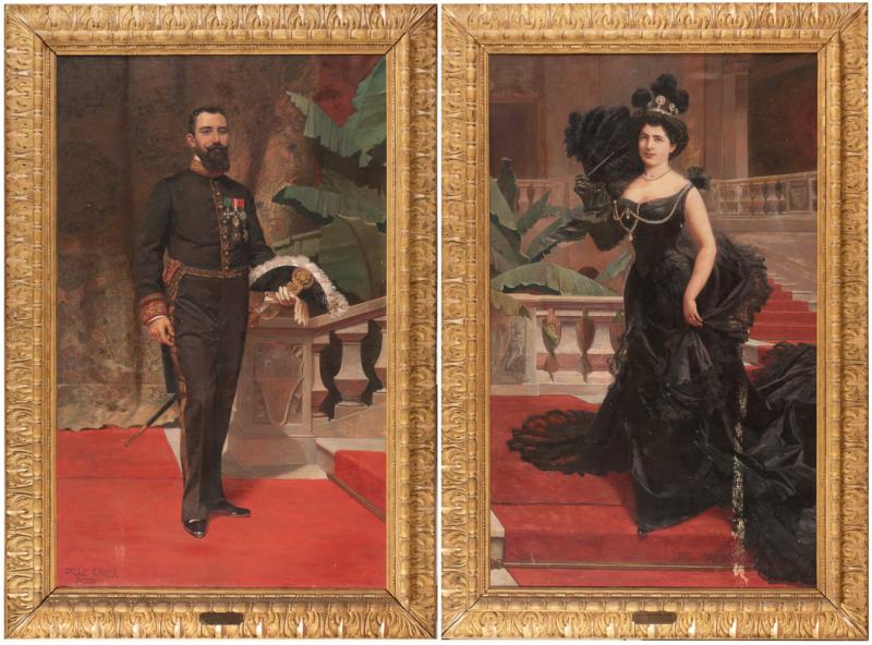 Erulo Eroli, ritratti del Conte Vittorio e della Contessa Elena Carrobio di Carrobio aggiudicati a 15.000 euro