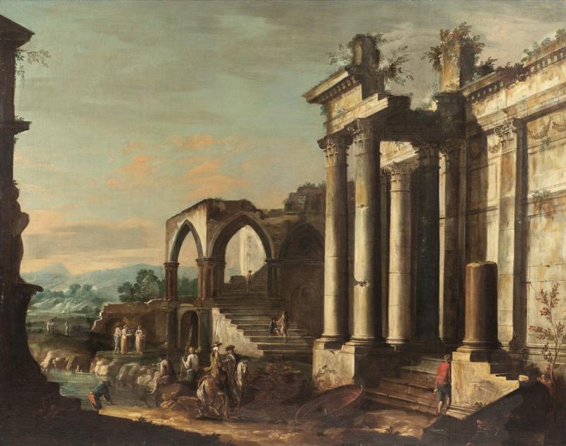 Antonio Visentini, Paesaggio con rovine. Aggiudicazione: 8.750 euro