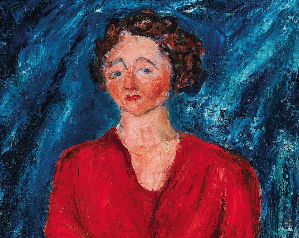 La signora in rosso di Soutine venduta all'asta per 1,8 milioni di euro da Dorotheum