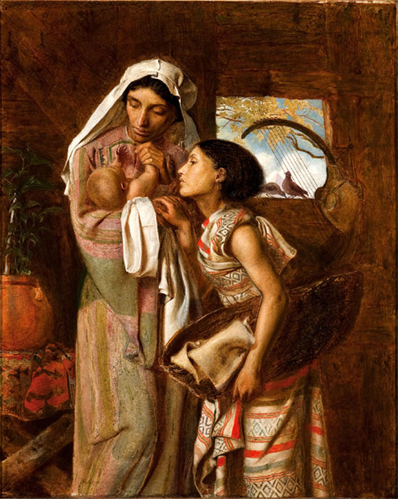 Simeon Solomon, The Mother of Moses, 1860, oil on canvas