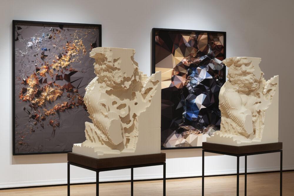 Veduta della personale Quayola. Ultima perfezione - Fondazione Modena Arti Visive, Palazzo Santa Margherita, Modena (18 settembre 2020 – 10 gennaio 2021) foto: ©Rolando Paolo Guerzoni, 2020