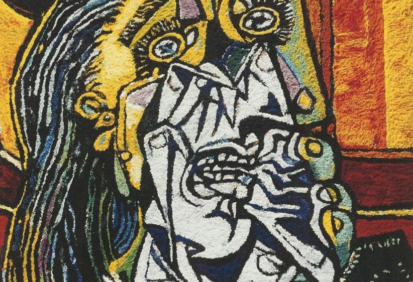 Vik Muniz, Weeping Woman, After Picasso (particolare), 2007, galleria VitArt (Svizzera)