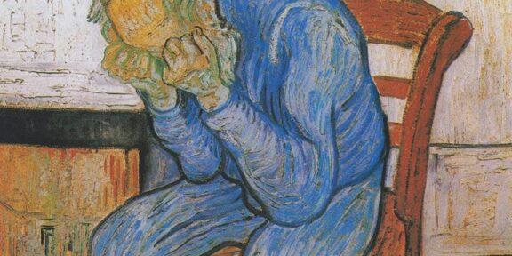 Vincent Van Gogh, Sulla soglia dell'eternità (particolare, 1890)