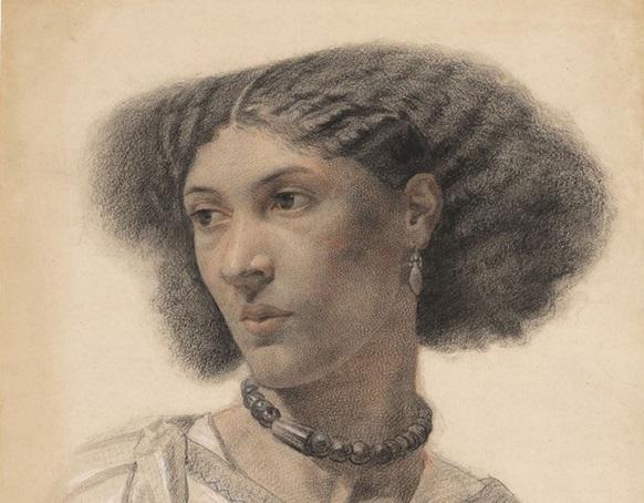 Walter Fryer Stocks, c.1859–1860, black, red & white chalk on cream wove paper