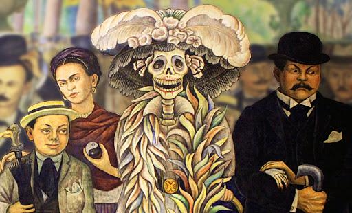 Diego Rivera (1886- 1957), Sogno di una domenica pomeriggio all'Alameda (dettaglio)