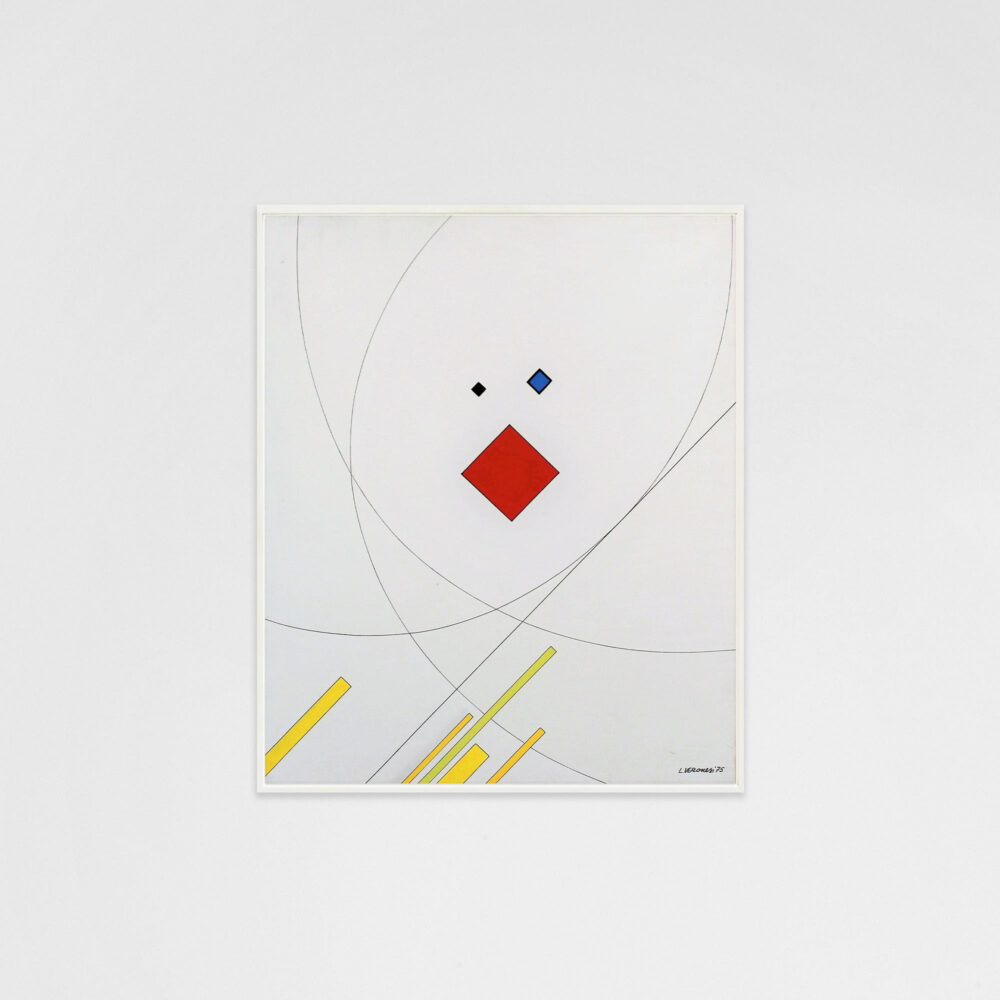 Luigi Veronesi, Composizione Z5, 1975, oil on canvas, 60x50 cm