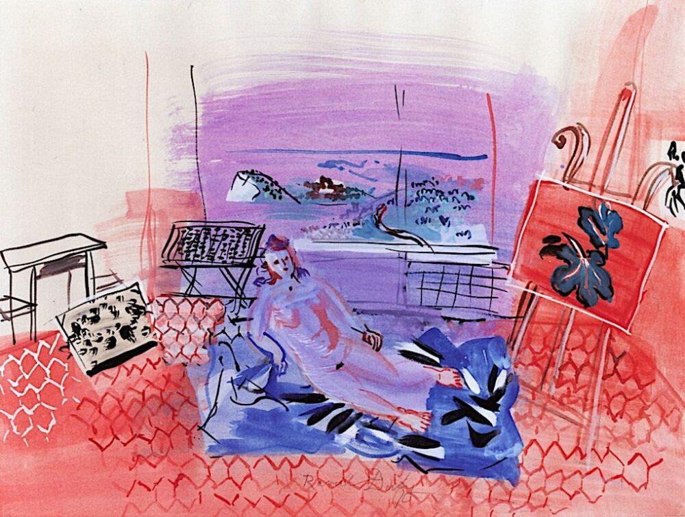 Raoul Dufy, L'atelier à Vence Raoul Dufy