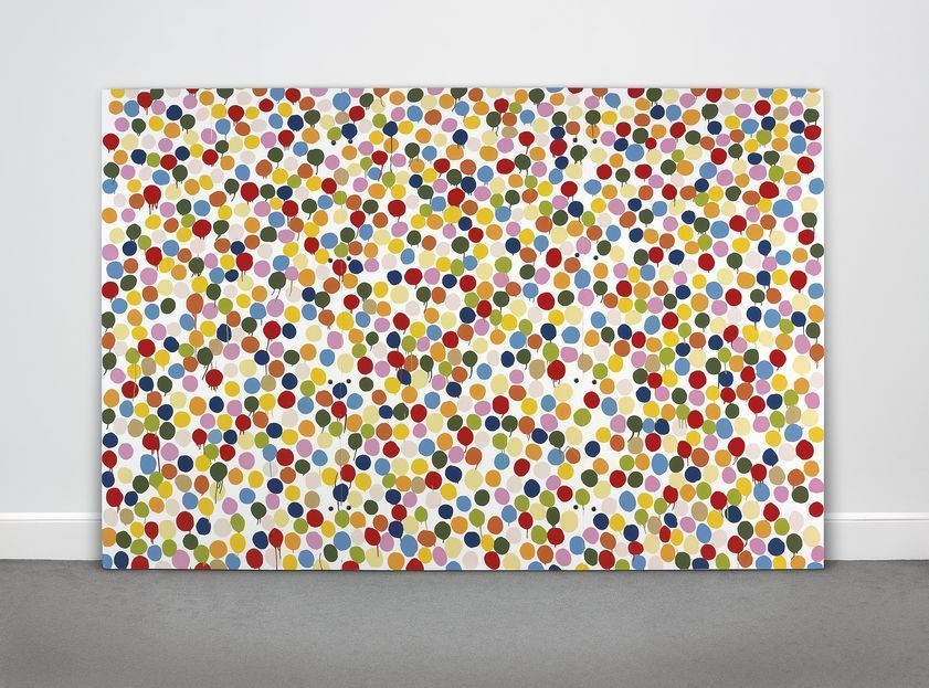 Spot Painting, 1986, © Damien Hirst and Science Ltd. All rights reserved, DACS/Artimage 2020. Photo: Prudence Cuming Associates Ltd