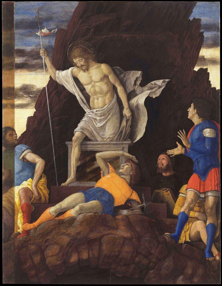 Andrea Mantegna (Isola di Carturo, 1431 – Mantova, 1506) Resurrezione di Cristo, 1492 ca., Accademia Carrara, Bergamo Su concessione di Fondazione Accademia Carrara, Bergamo