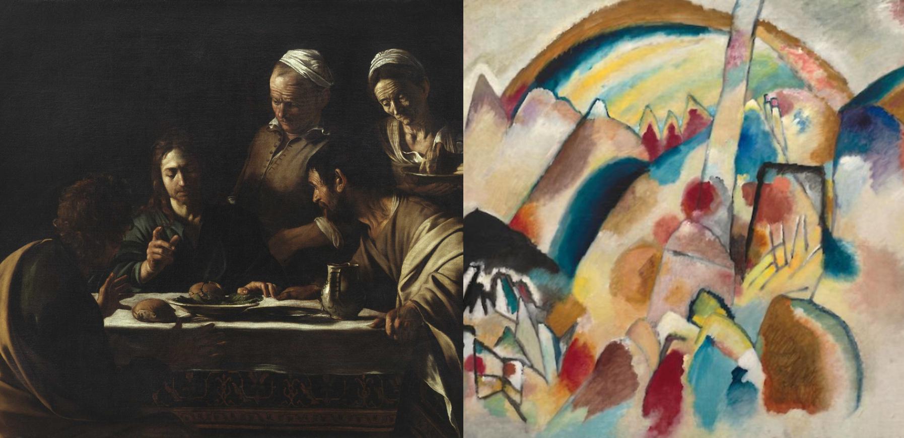Può Caravaggio dialogare con Kandinsky? I racconti di Guggenheim e Brera