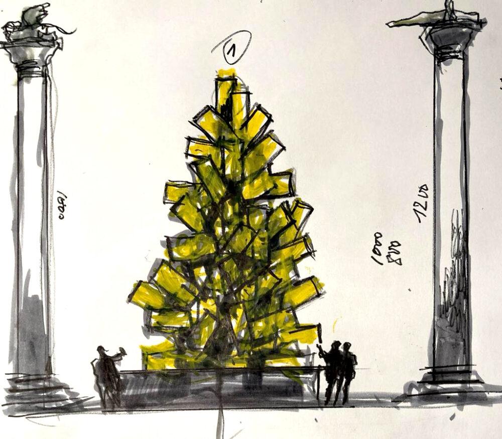 Natale Digitale Fabrizio Plessi Venezia 2020