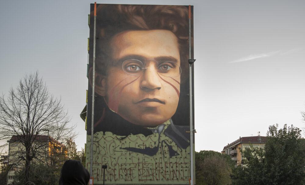 Jorit Gramsci Firenze allestimento