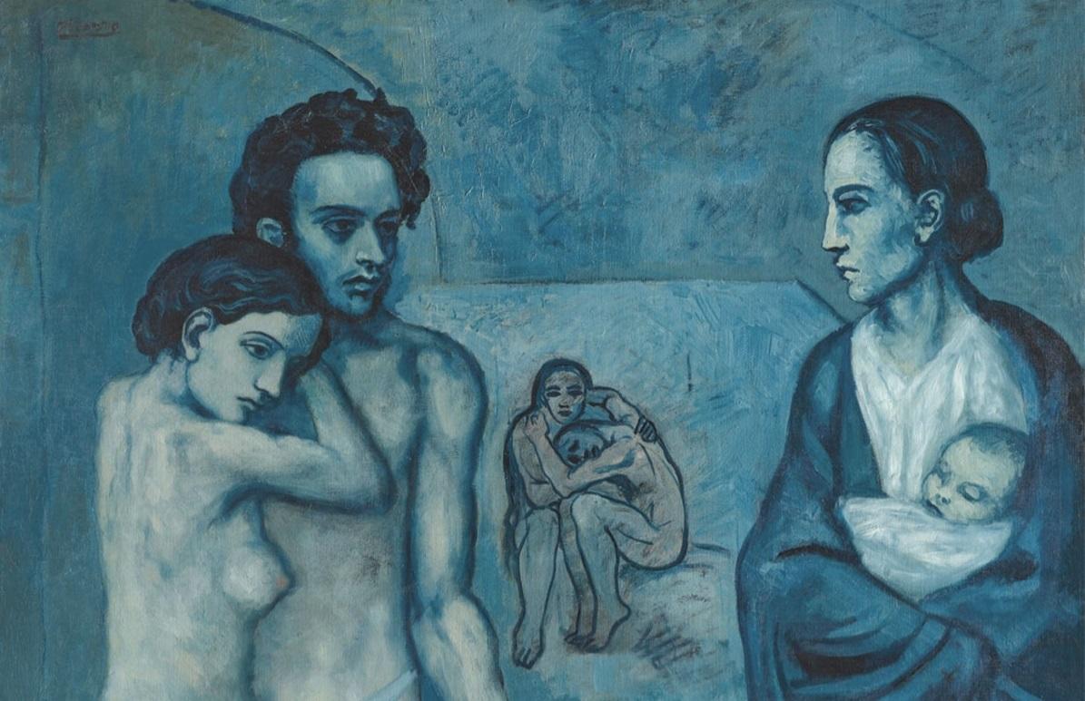 Picasso e il periodo blu: nascita e caratteristiche dei dipinti più scuri dell'artista