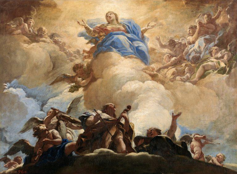 Luca Giordano (1634-1705) Assunzione della Vergine 1698 ca., Olio su tela 61 x 82,2 cm, Madrid, Museo del Prado