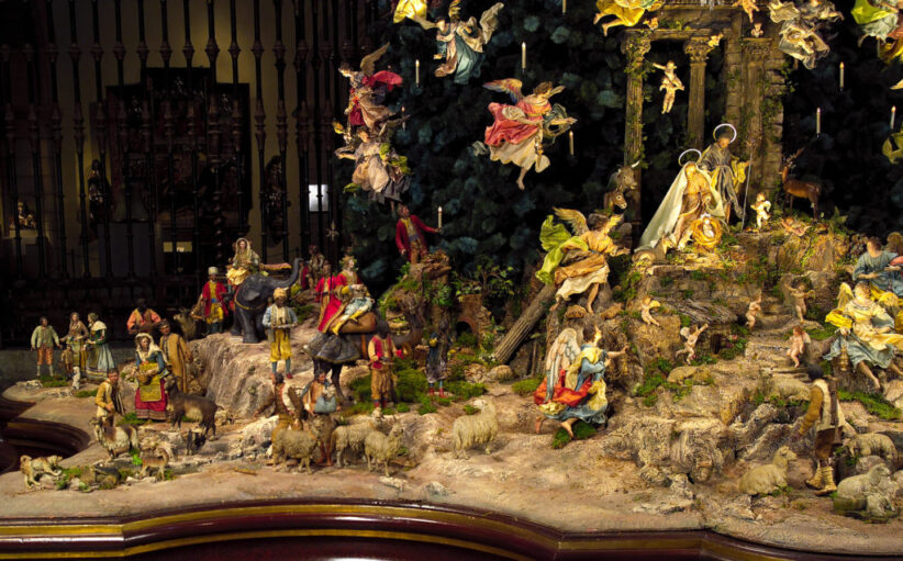 Particolare dell'Albero di Natale napoletano del Metropolitan Museum