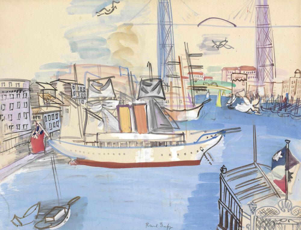 Raoul Dufy (1877-1953), Le vieux port de Marseille
