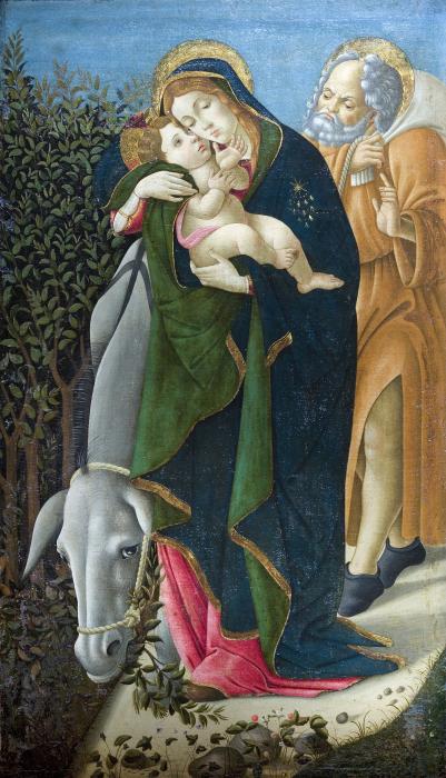 Sandro Botticelli (1444 - 1510), La Fuite en Egypte, 1510, huile sur toile, 151 x 89 cm, musée Jacquemart-André © Institut de France - Christophe Recoura