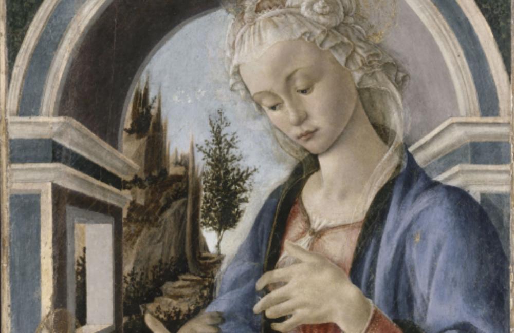 Sandro Botticelli (1444 - 1510), Madonna Campana, 1467-1470, foto © RMN-Grand Palais - René-Gabriel Ojéda (particolare)