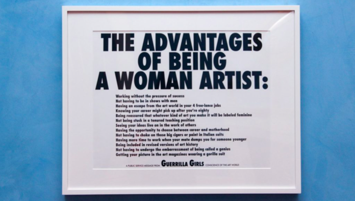 Guerilla Girls, The Advantages of Being a Woman Artist (1988)