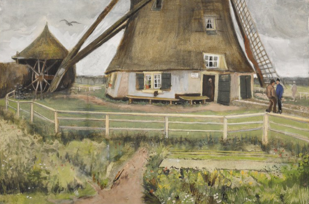 """Sotheby's Impressionist Modern Contemporary 8 dicembreVincent Van Gogh, The """"Laakmolen"""" Near The Hague"""