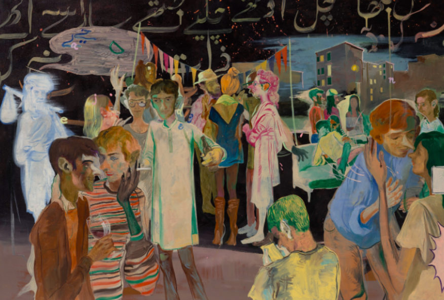 Salman Toor, Rooftop Party With Ghosts 1 (2015)