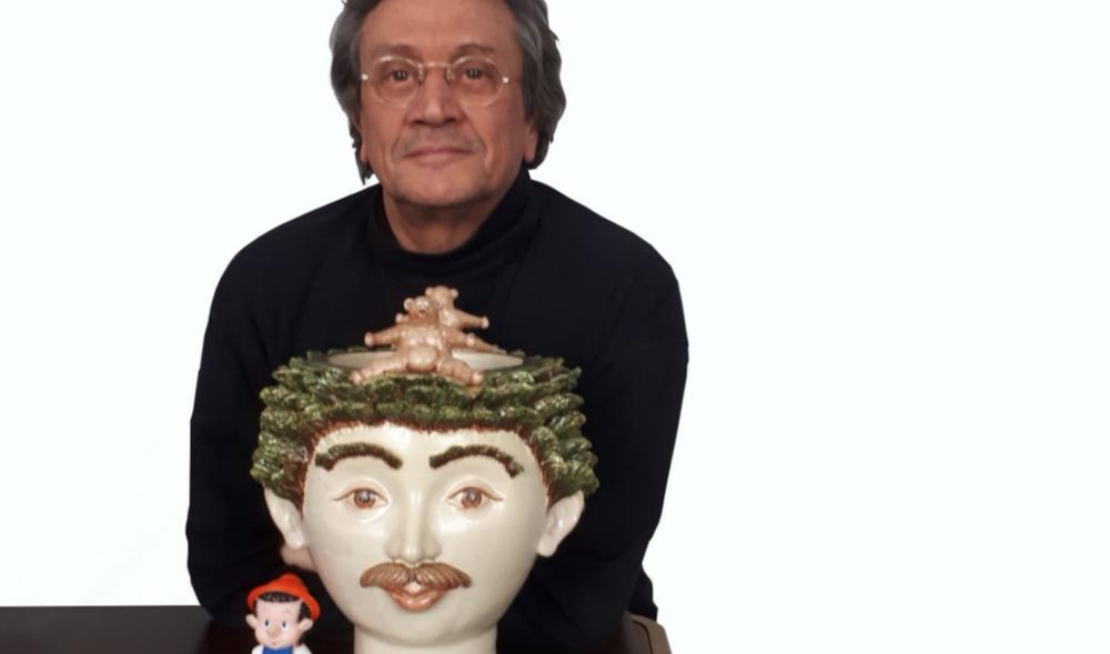 Giacinto Di Pietrantonio con Pinocchio e Abruzzo di Ugo La Pietra