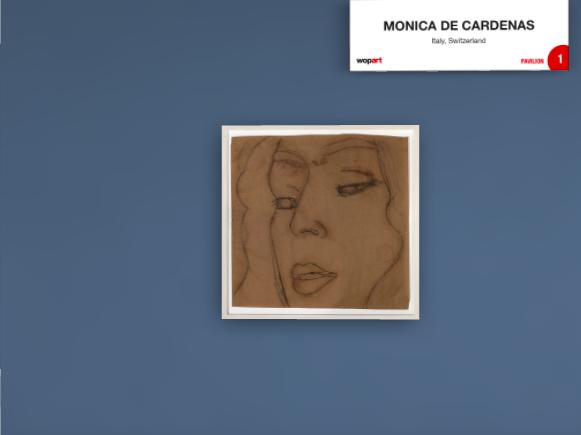 Un disegno di Alex Katz, _Marisa_, 2016, chalk and charcoal on paper 136x134 esposto da Monica De Cardenas