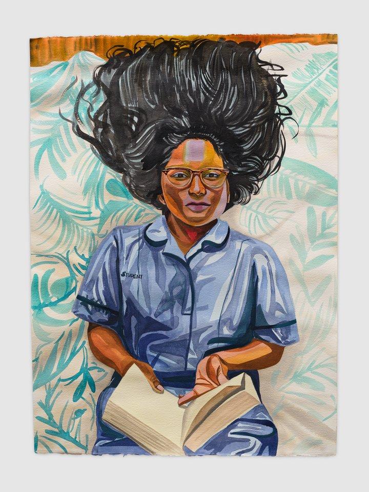 Aliza Nisenbaum, Naveena, Student Nurse and Succulents, 2020 © Aliza Nisembaum. Photografy by Jeff McLane, courtesy the artist and Anton Kern Gallery, New York