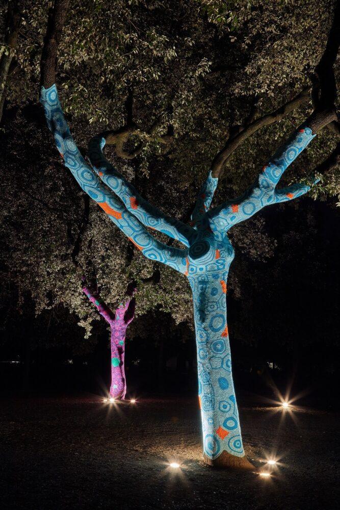 Back to Nature installazione su alberi